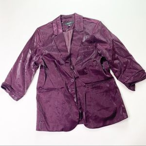 Kris Jenner Kollection Purple Blazer Jacket Shiny